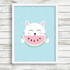 פוסטר חתול אבטיח