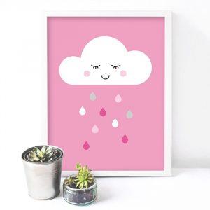 פוסטר ענן ורוד