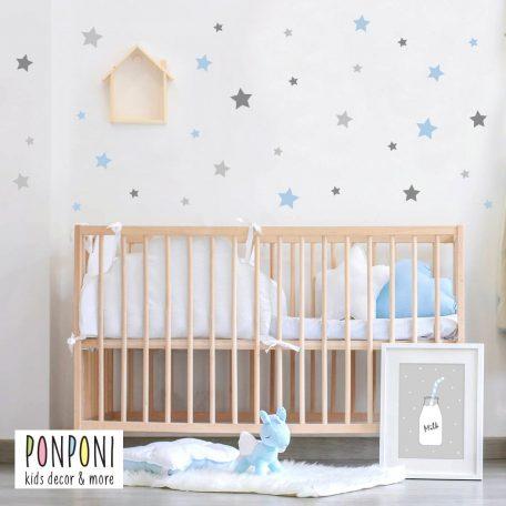 מדבקות כוכבים | מדבקות קיר לחדר ילדים  | מדבקות קיר לתינוקות
