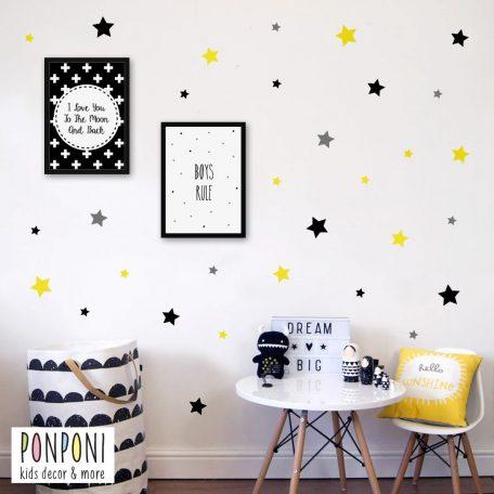 מדבקות כוכבים | מדבקות קיר לחדר ילדים  | מדבקות קיר לתינוקות  |  אקססוריז לחדרי