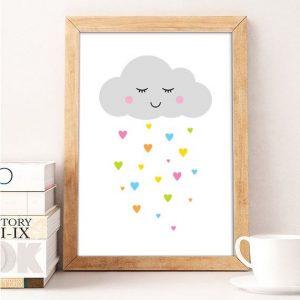 פוסטר ענן צבעוני