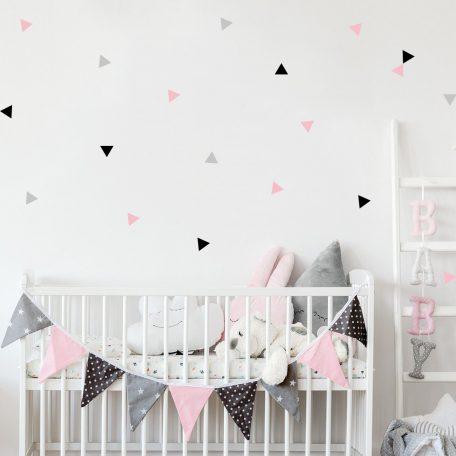 מדבקות קיר משולשים   מדבקות קיר לחדר ילדים   מדבקות קיר לתינוקות   מדבקות משולשים   מדבקות בסגנון סקנידבי   עיצוב חדרי ילדים