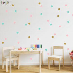 מדבקות קיר עיגולים לחדרי ילדים וחדרי תינוקות