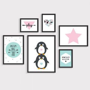 פוסטרים לחדר משותף פינגווינים