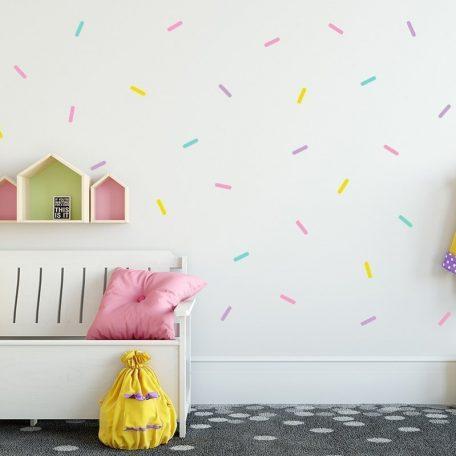 מדבקות קיר קונפטי | מדבקות קיר לחדר ילדים  | מדבקות קיר לתינוקות | מדבקות קיר סוכריות | מדבקות קיר | מדבקות טפט | טפט לחדר | טפט לחדר ילדים | טפט לחדר תינוק | הקססוריז לחדרי ילדים
