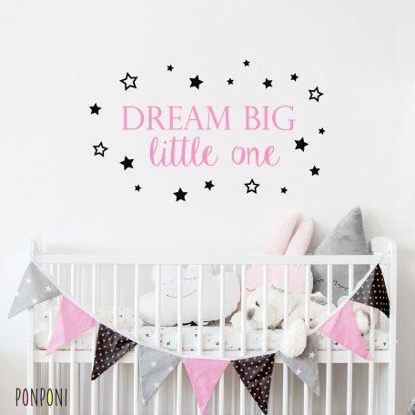 מדבקת dream big | מדבקות לחדרי ילדים | מדבקות קיר |  אקססוריז לחדרי ילדים | תמונות לחדר | טפטים לחדר | מדבקות טפט | שטיח לחדר ילדים