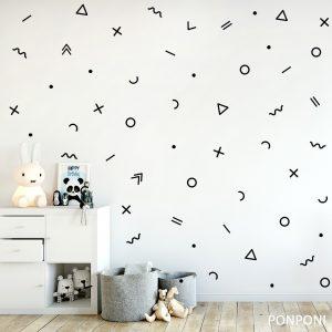 מדבקות קיר צורות גיאומטריות