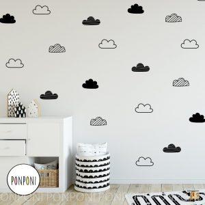 מדבקות קיר עננים נורדי