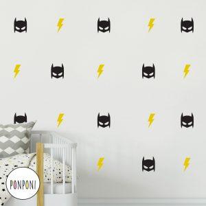 מדבקות קיר באטמן ברקים