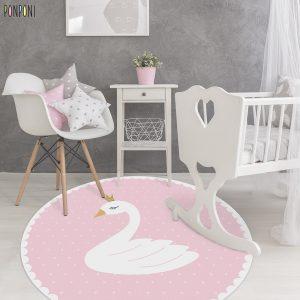 שטיח עגול לילדים – ברבור