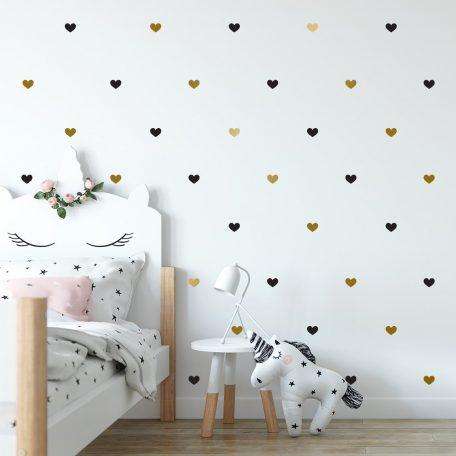מדבקות קיר לבבות לחדר ילדים ותינוקות