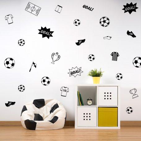מדבקות קיר כדורגל לחדרי ילדים תינוקות נוער