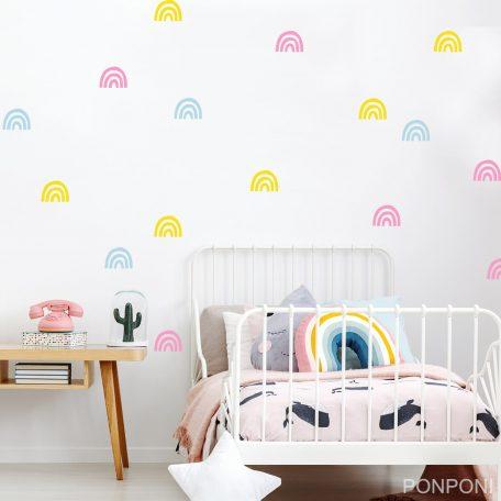 מדבקות קיר קשת בענן | מדבקות קיר לילדים | מדבקות קיר בצבעי הקשת | מדבקות קיר לחדרי ילדים | אקססוריז לחדרי ילדים  |מדבקות קיר בתפזורת | עיצוב חדרי ילדים | הום סטיילינג | rainbow wall decals