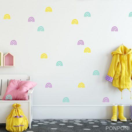 מדבקות קיר קשת בענן | מדבקות קיר לילדים | מדבקות קיר בצבעי הקשת | מדבקות קיר לחדרי ילדים | אקססוריז לחדרי ילדים  |מדבקות קיר בתפזורת | עיצוב חדרי ילדים | הום סטיילינג