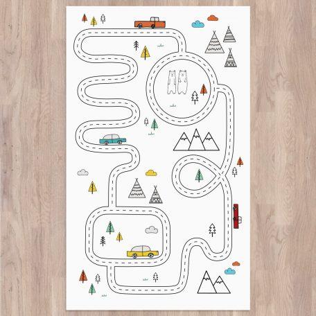 שטיחים לחדרי ילדים | שטיח מסלולים לילדים | שטיח PVC לחשר ילדים | שטיחים מודפסים | שטיח לימולאום לילדים | שטיח משחק לילדים | שטיח כביש | חדר ילדים נורדי