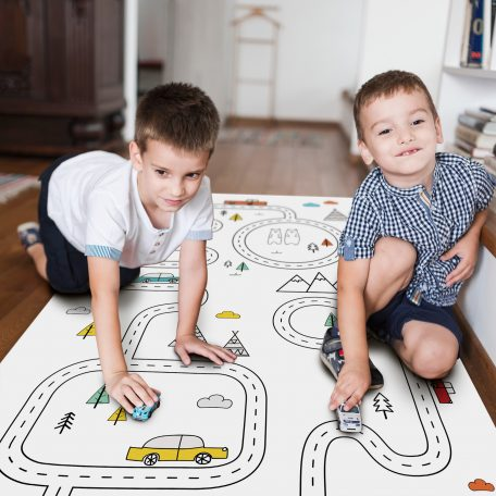 שטיחים לחדרי ילדים | שטיח מסלולים לילדים | שטיח PVC | שטיחים מודפסים | שטיח לימולאום לילדים | שטיח משחק לילדים | שטיח כביש | חדר ילדים נורדי