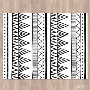 שטיח PVC לחדר ילדים בעיצוב נורדי