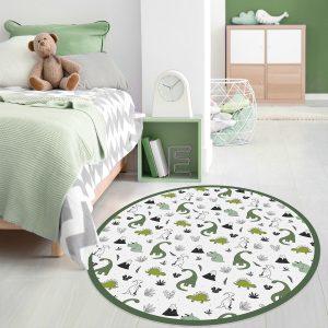 שטיח לחדר ילדים עגול PVC דינוזאורים