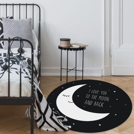 שטיח עגול לחדר ילדים ותינוקות PVC - i love you to the moon