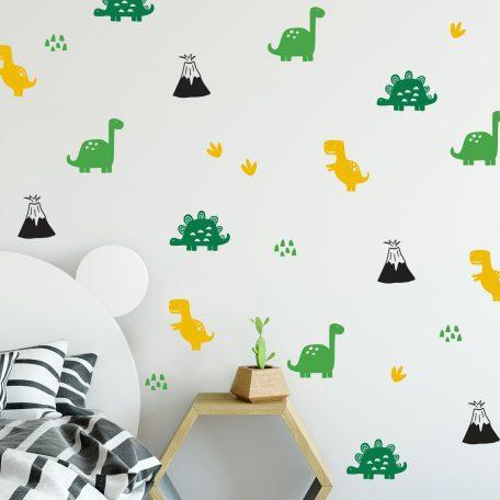 מדבקות קיר דינוזאורים לחדר ילדים