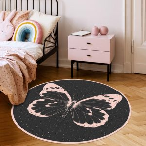 שטיח לחדר נערה פרפר ורוד