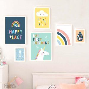 הדפסים לחדר ילדים חד קרן
