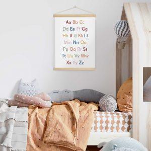 תמונת קנבס לחדר ילדים ABC