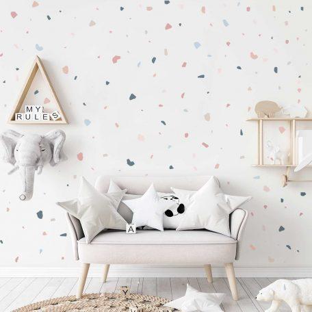 טפט טראצו לחדר ילדים ותינוקות, טראצוף עיצוב חדרי ילדים, טפט לחדר תינוק, עיצוב חדר בנות