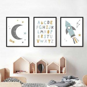תמונות לחדר ילדים חלל