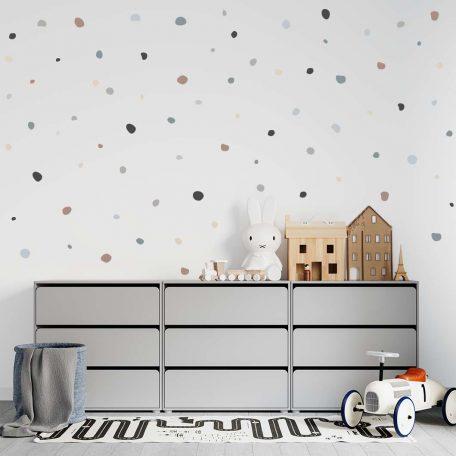 מדבקות קיר אבנים, מדבקות קיר חלוקי נחל, מדבקות עיגולים, טפט לחדר ילדים חדר תינוקות