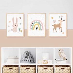 תמונות לחדרי ילדים במבי ארנבת
