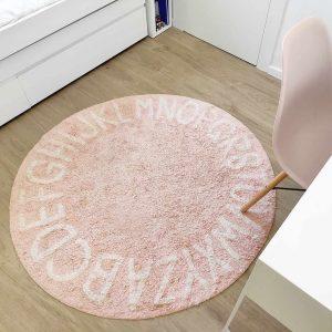 שטיח לחדר ילדים ABC עגול כותנה